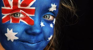 Australian face painting by Linda Bell of Face Paint Artists image credit news.com.au