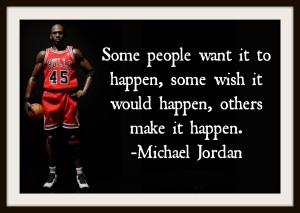 Michael Jordan some people want it to happen